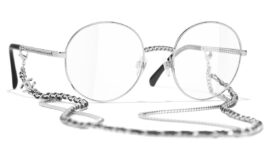 Chanel Pantos Eyeglasses – Silver Frame