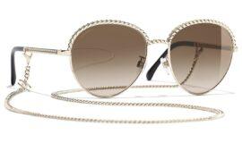 Chanel Pantos Sunglasses – Gold Frame