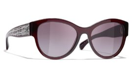 Chanel Pantos Sunglasses – Dark Red Frame